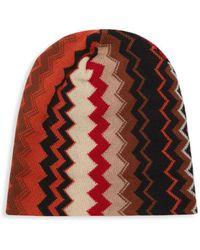 20f6a296e72 Missoni Striped Wool Blend Men s Hat in Blue for Men - Lyst