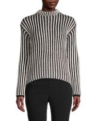 Endless Rose Striped Knitted Jumper - Black