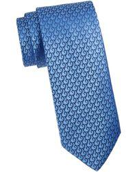Charvet Silk Geometric Pattern Tie - Red