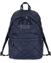 Marc Jacobs Quilted Nylon Backpack - Blue