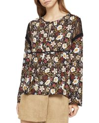 BCBGeneration - Far East Floral Lace-insert Top - Lyst