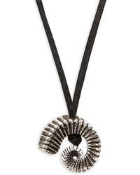 King Baby Studio - Ram Horn Pendant Necklace - Lyst