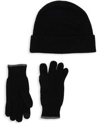 Saks Fifth Avenue - Boxed Two-piece Wool Cashmere Beanie & Gloves Set - Lyst