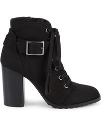 Saks Fifth Avenue Valentina Hiker Booties - Black