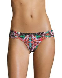 OndadeMar - Mandalay Low-rise Ruched Bikini Bottom - Lyst