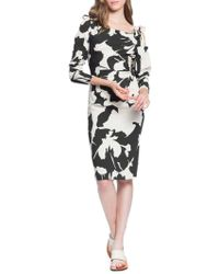 Tracy Reese Stretch Crepe Ruched Knee-length Dress - Black