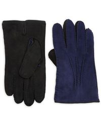 Saks Fifth Avenue - Two-tone Leather Gloves - Lyst