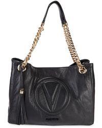 Valentino by Mario Valentino Signoria Ladies Large Shoulder Bag in Black One Size