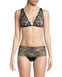 Mimi Holliday by Damaris Floral Lace Triangle Bra - Black