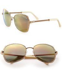 Roberto Cavalli - 58mm Metal Oversized Square Sunglasses - Lyst