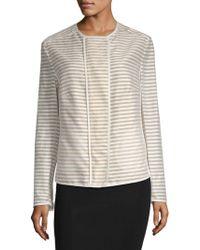 Akris - Stripe Zip Jacket - Lyst