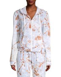 Kensie Puffed-sleeve Zip Jacket - Multicolour