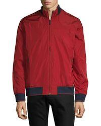 Perry Ellis Zip-front Long-sleeve Jacket - Black