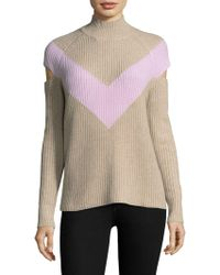 Zoe Jordan Graham Chevron Sweater - Brown
