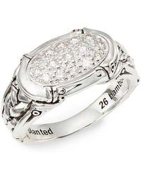 John Hardy - Bamboo Diamond & Sterling Silver Pavé Ring - Lyst