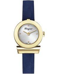 Ferragamo Gancino Stainless Sterling & Leather-strap Watch - Metallic