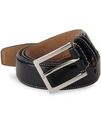 Cole Haan Slim Leather Belt - Black