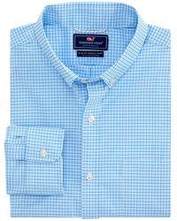Vineyard Vines Performance On-the-go Starfish Murray Slim-fit Shirt - Blue