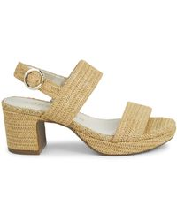 Anne Klein Padrino Raffia Slingback Sandals - Metallic