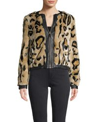Karl Lagerfeld Leopard-print Faux Fur Jacket - Multicolour