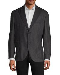 Boglioli Flannel Wool Dinner Jacket - Gray