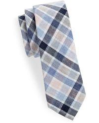 Joe's Collection - Plaid Slim Cotton Tie - Lyst