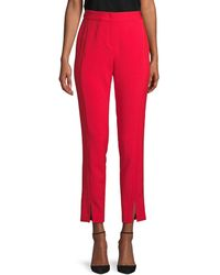 BCBGMAXAZRIA Flat-front Cropped Pants - Red