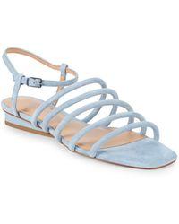 Halston - Leandra Suede Sandals - Lyst