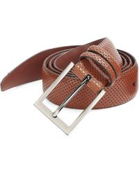 Saks Fifth Avenue Collection Perforated Leather Belt - Brown