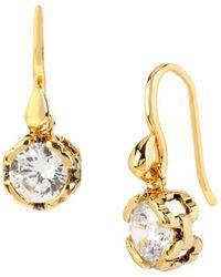 Diane von Furstenberg - Cubism Solitaire Earrings - Lyst