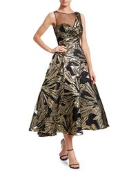THEIA Brocade Fit-&-flare Cocktail Dress - Multicolour