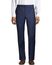 Saks Fifth Avenue Textured Wool Pants - Blue