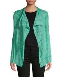 M Missoni Perforated Wool-blend Cardigan - Green