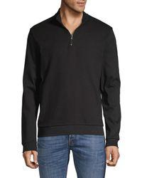 BOSS by HUGO BOSS Sidney Zip-neck Pullover - Black