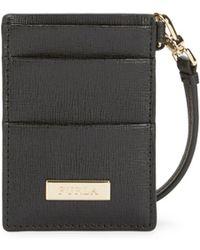 Furla Oxford Leather Card Case - Black