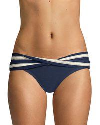 Robin Piccone Abi Twist Bikini Bottoms - Blue