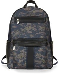 Robert Graham Printed Logo Backpack - Blue