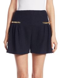Mother Of Pearl Jettie Tweed Shorts - Blue