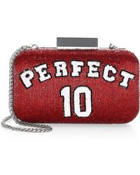 Alice + Olivia Shirley Perfect 10 Large Clutch - Red