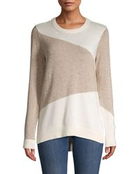 BCBGeneration Colorblock Cotton-blend Jumper - Multicolour