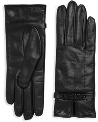 Moschino - Classic Leather Gloves - Lyst