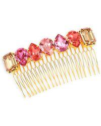 Lelet Elle Swarovski Crystal Comb - Pink