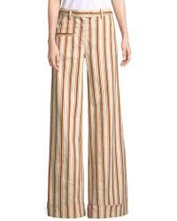 Rosie Assoulin - Stripe Linen Pants - Lyst