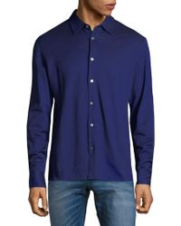 Luciano Barbera - Long Sleeve Cotton Button-down Shirt - Lyst