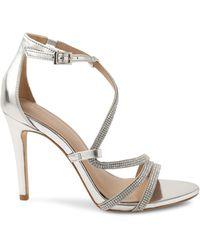 BCBGeneration Jalila-2 Embellished Stiletto Sandals - Metallic