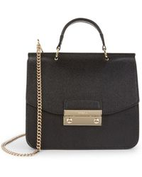 Furla Mini Julia Leather Top Handle Bag - Black