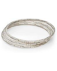 John Hardy - Bedeg Sterling Silver Slim Bracelet Set - Lyst