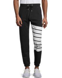 Helmut Lang Men's Graphic Logo Jogging Pants - Black - Size Xs