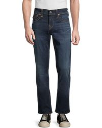 True Religion Ricky Flap Super Stretch Jeans - Blue