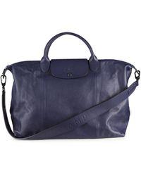 Longchamp Leather Satchel - Blue